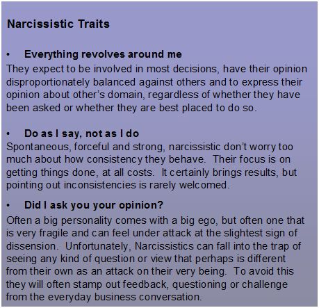 Traits of a narcissist man